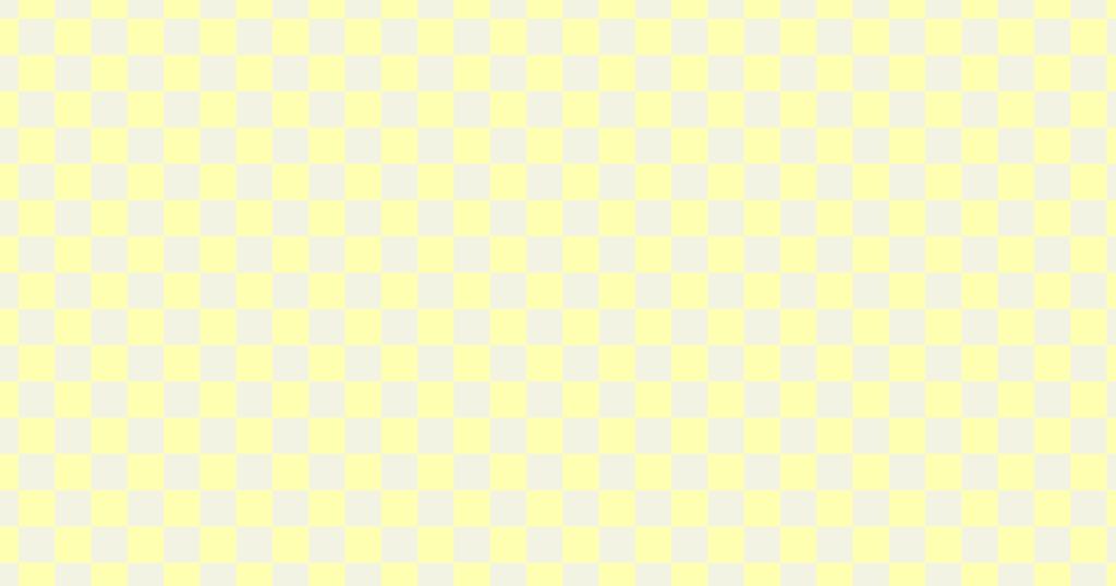 柔らかい色のチェッカー柄背景素材(イエロー)