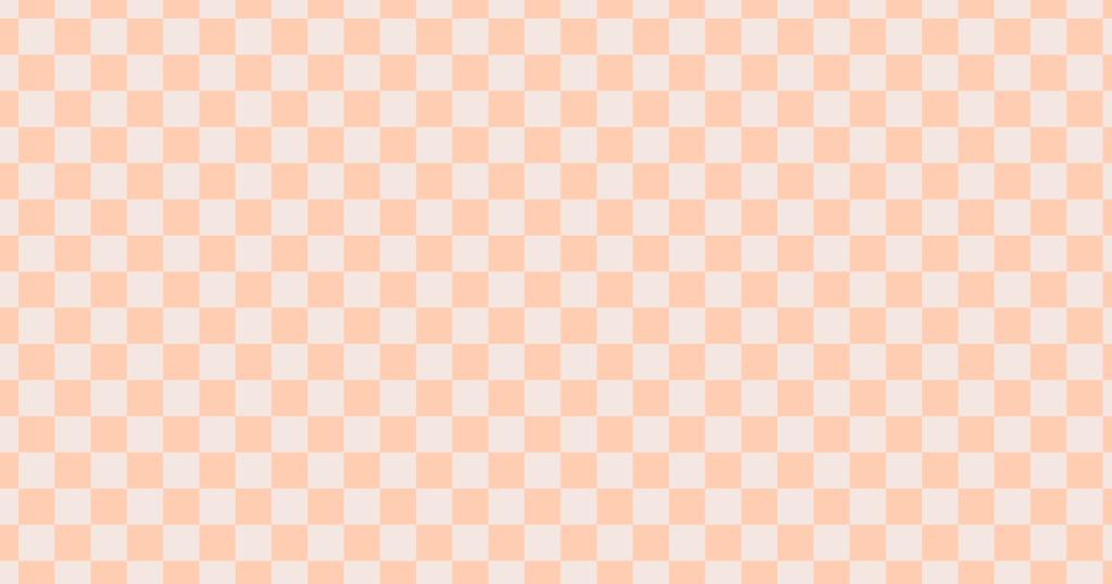 柔らかい色のチェッカー柄背景素材(オレンジ)