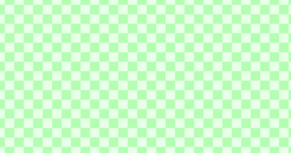 柔らかい色のチェッカー柄背景素材(グリーン)