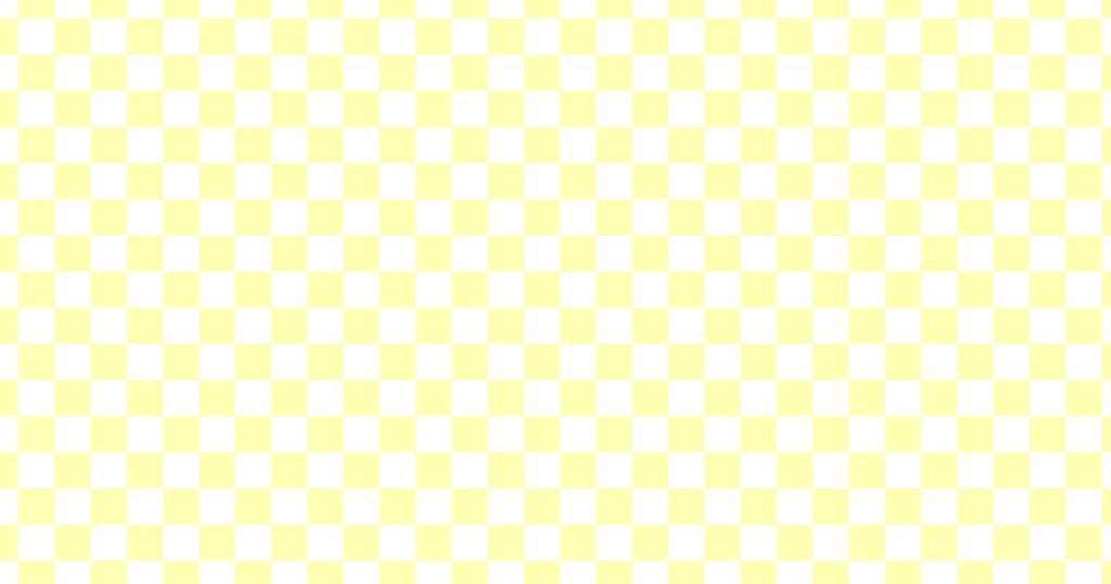 柔らかい色のチェッカー柄背景素材(白地×イエロー)