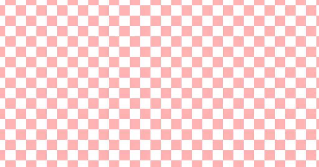 柔らかい色のチェッカー柄背景素材(白地×レッド)