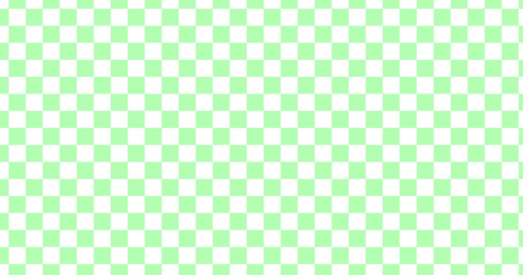 柔らかい色のチェッカー柄背景素材(白地xグリーン)
