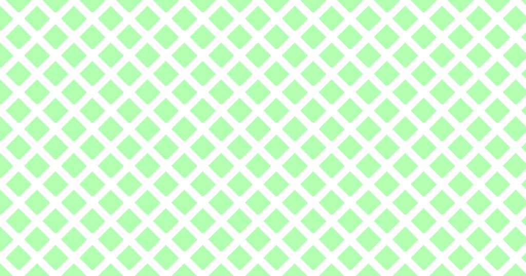 柔らかい色のひし形網目模様背景素材(白地×グリーン)
