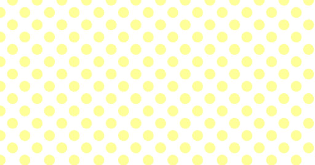 柔らかい色の水玉模様背景素材(白地×イエロー)