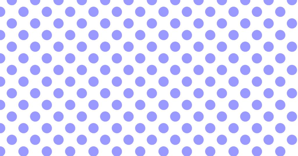 柔らかい色の水玉模様背景素材(白地×ブルー)