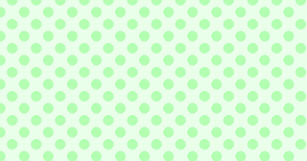 柔らかい色の水玉模様背景素材(グリーン)
