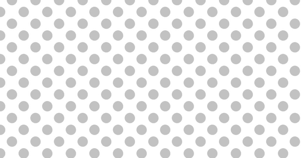 柔らかい色の水玉模様背景素材(白地×グレイ)