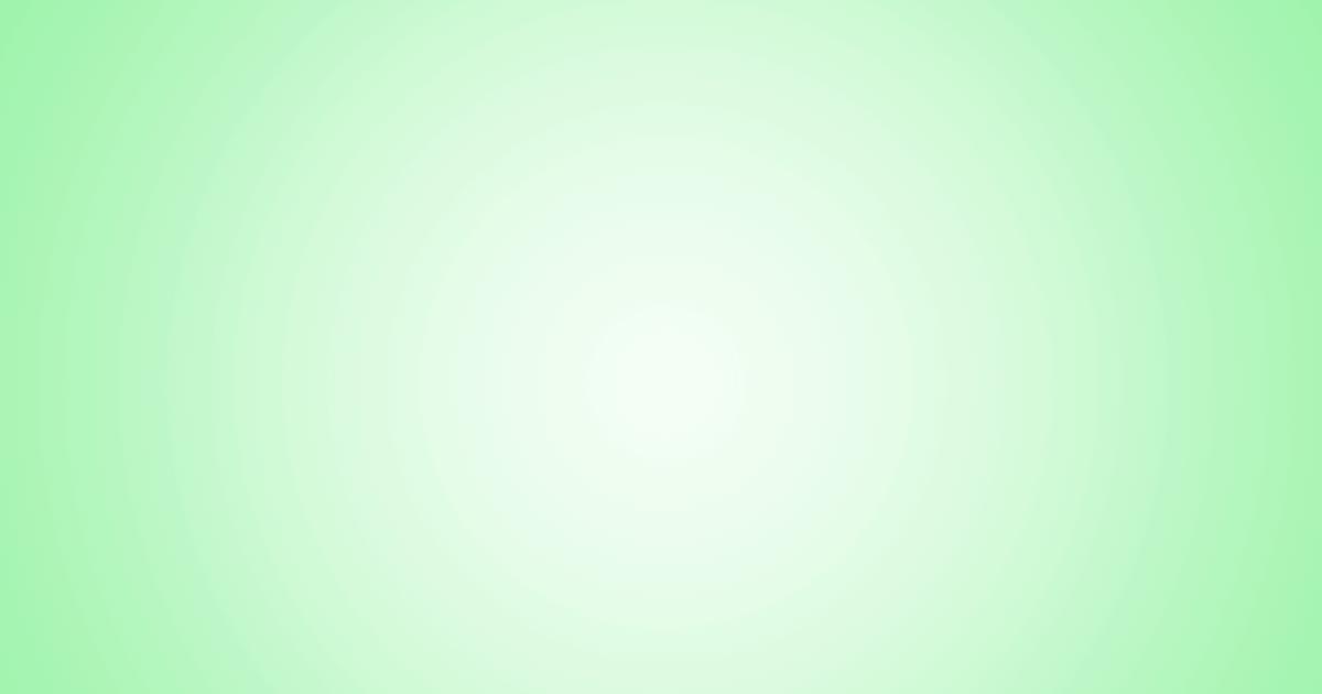 柔らかめの円グラデーション背景素材(グリーン)