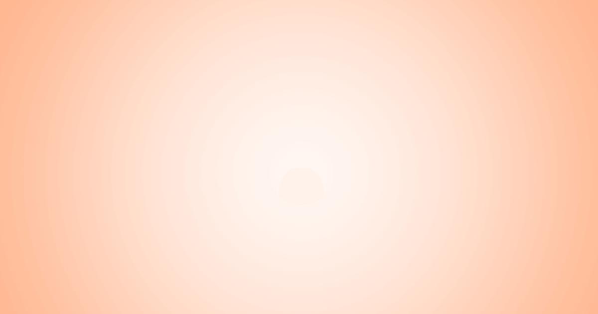 柔らかめの円グラデーション背景素材(オレンジ)