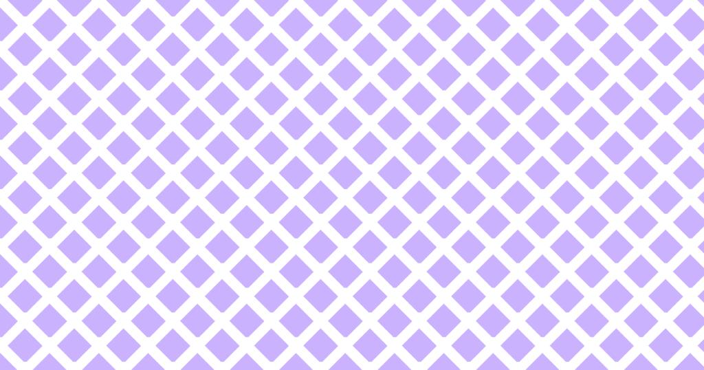 柔らかい色のひし形網目模様背景素材(白地×パープル)