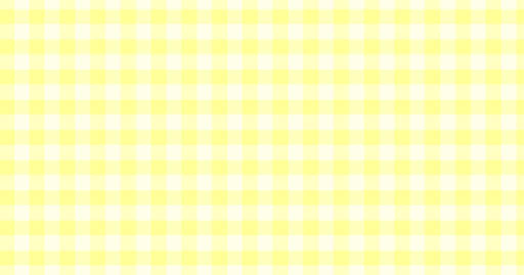 柔らかい色のチェック柄背景素材(イエロー)