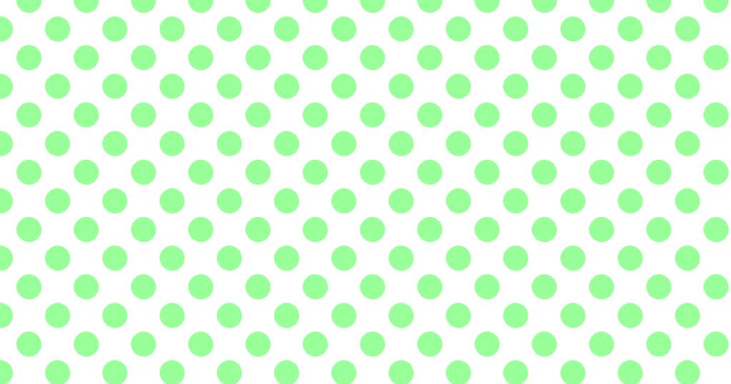 柔らかい色の水玉模様背景素材(白地×グリーン)
