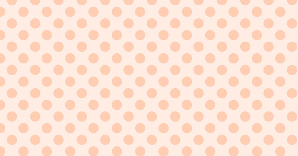 柔らかい色の水玉模様背景素材(オレンジ)