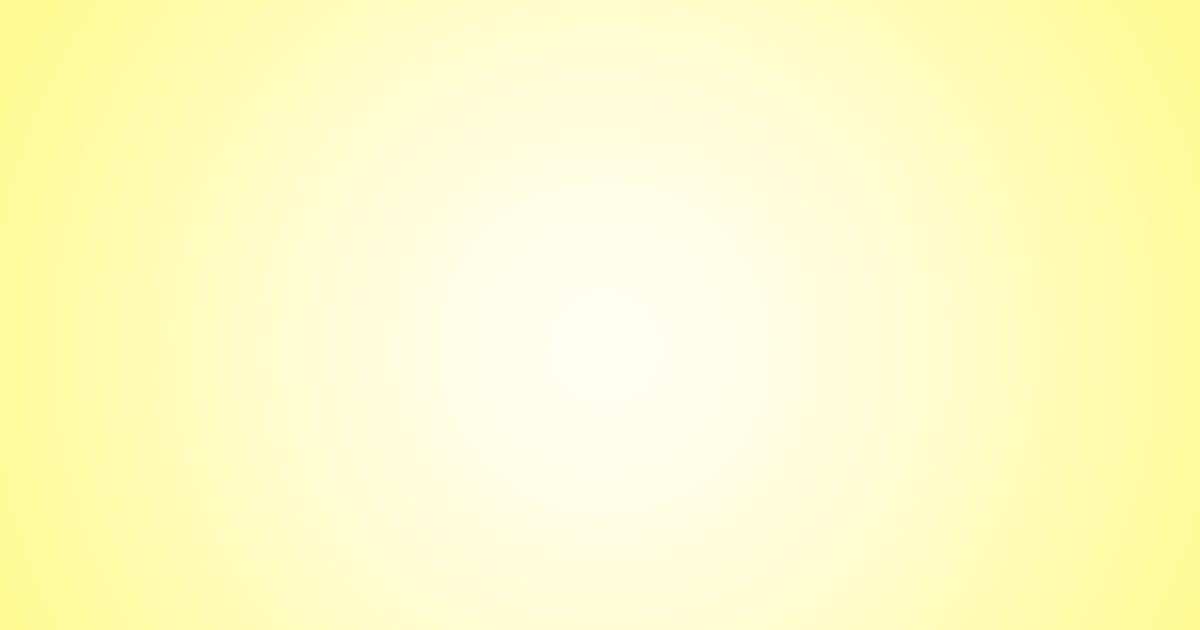 柔らかめの円グラデーション背景素材(イエロー)