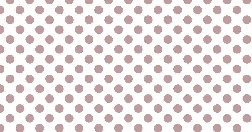 柔らかい色の水玉模様背景素材(白地×ブラウン)