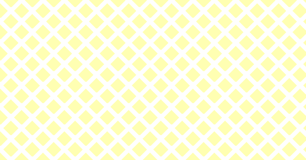 柔らかい色のひし形網目模様背景素材(白地×イエロー)