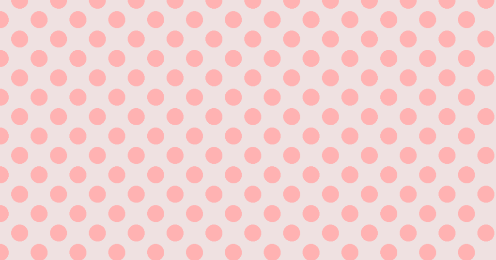 柔らかい色の水玉模様背景素材(レッド)