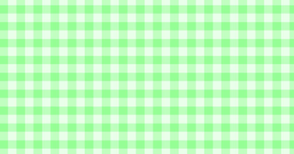 柔らかい色のチェック柄背景素材(グリーン)