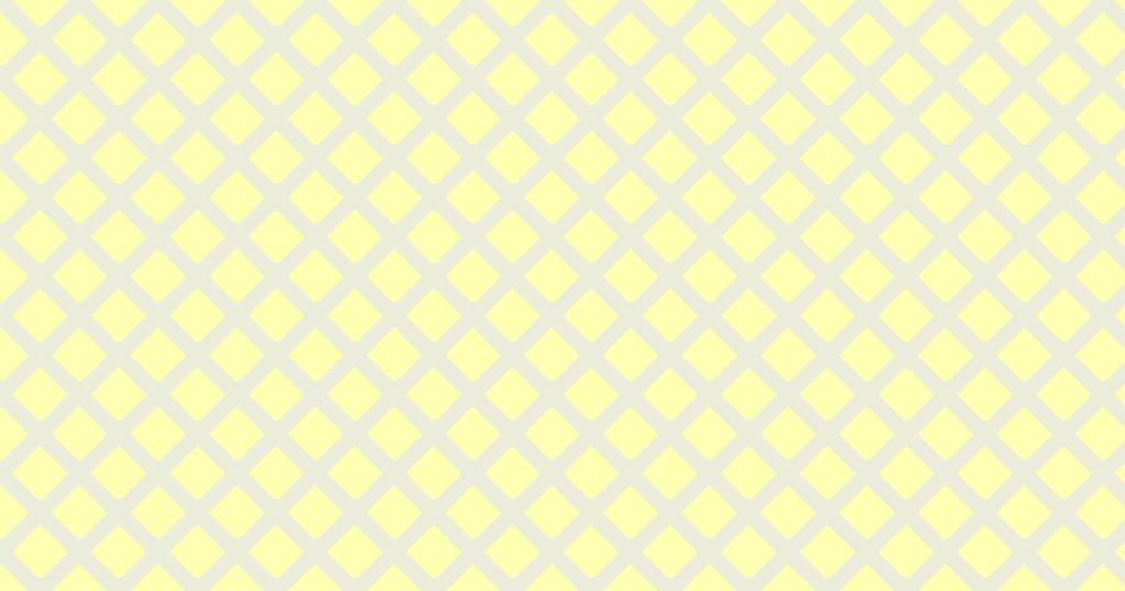 柔らかい色のひし形網目模様背景素材(イエロー)