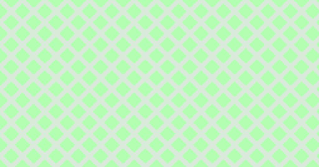 柔らかい色のひし形網目模様背景素材(グリーン)