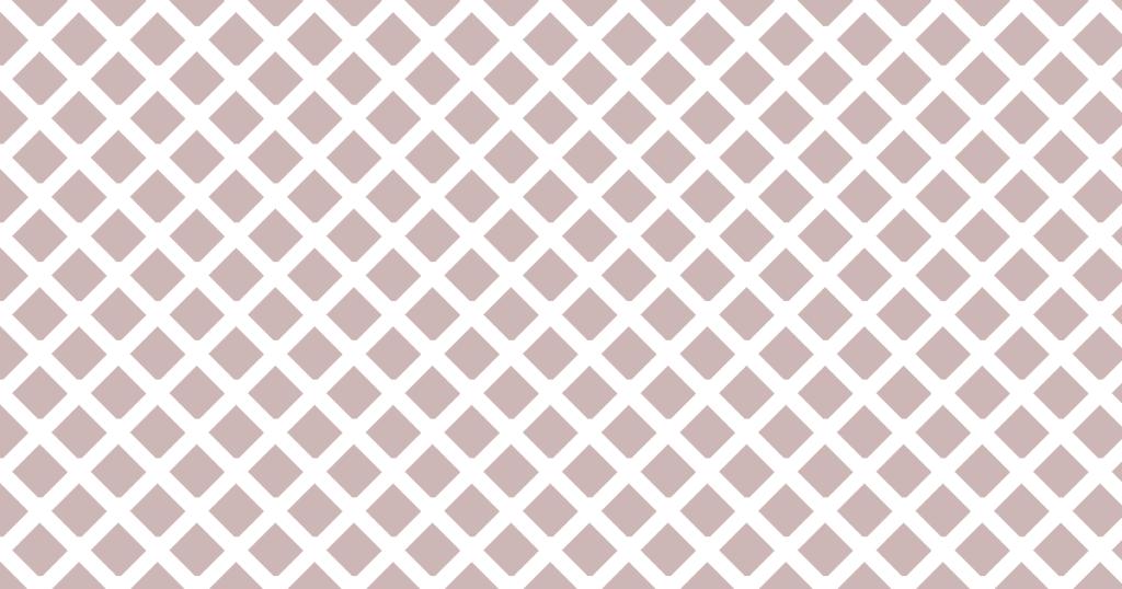 柔らかい色のひし形網目模様背景素材(白地×ブラウン)
