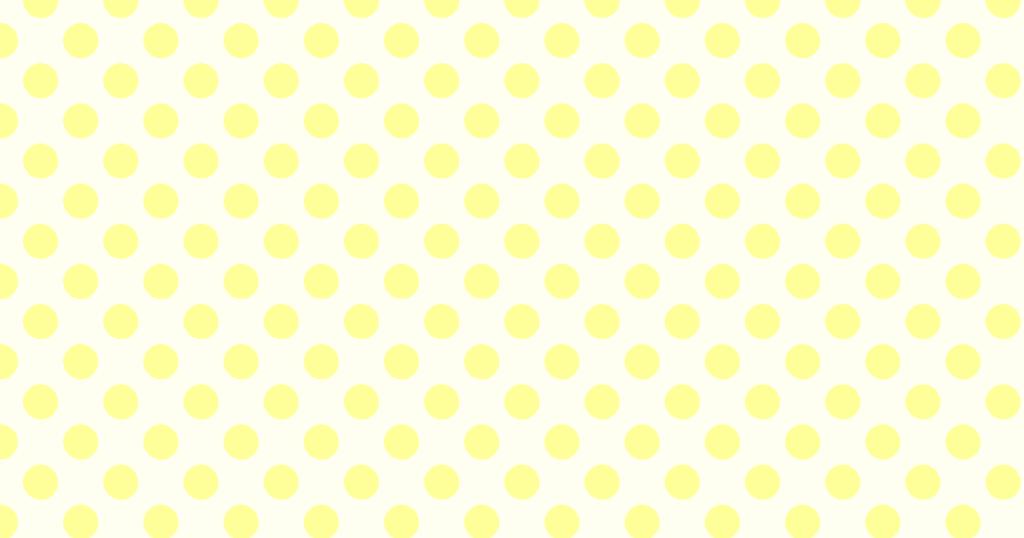 柔らかい色の水玉模様背景素材(イエロー)