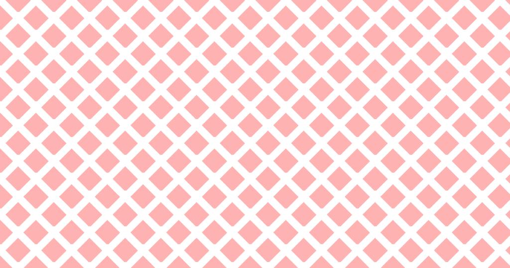 柔らかい色のひし形網目模様背景素材(白地×レッド)