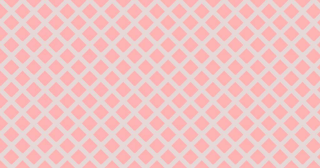 柔らかい色のひし形網目模様背景素材(レッド)
