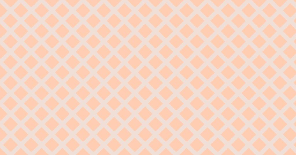 柔らかい色のひし形網目模様背景素材(オレンジ)