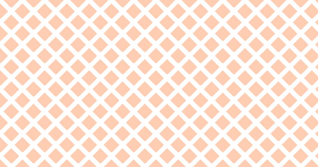 柔らかい色のひし形網目模様背景素材(白地×オレンジ)