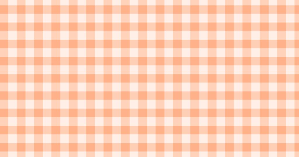 柔らかい色のチェック柄背景素材(オレンジ)