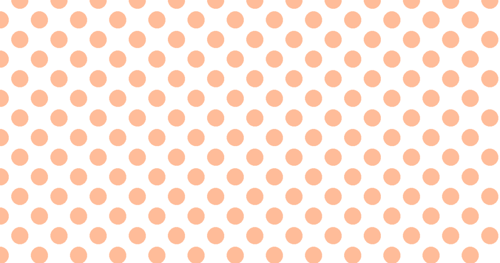 柔らかい色の水玉模様背景素材(白地×オレンジ)