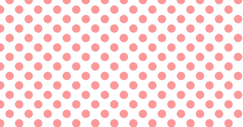柔らかい色の水玉模様背景素材(白地×レッド)