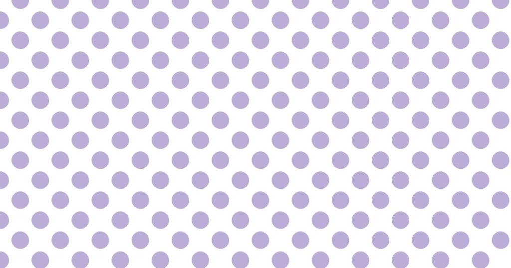柔らかい色の水玉模様背景素材(白地×パープル)