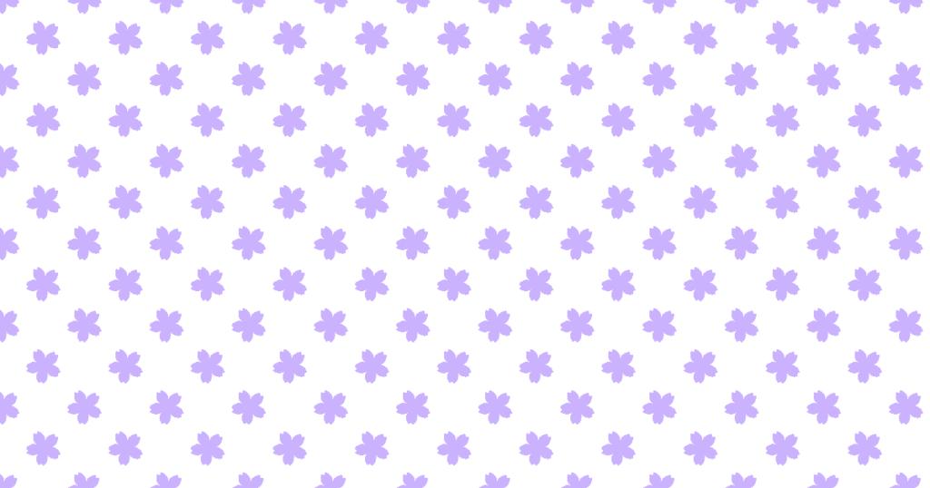 柔らかい色のサクラ柄背景素材(パープル)