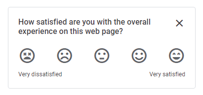How satisfied are you with the overall experience on this web page?