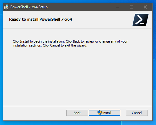 PowerShellのインストール4