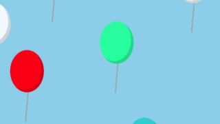 風船が舞い上がるCSSアニメーションサンプル