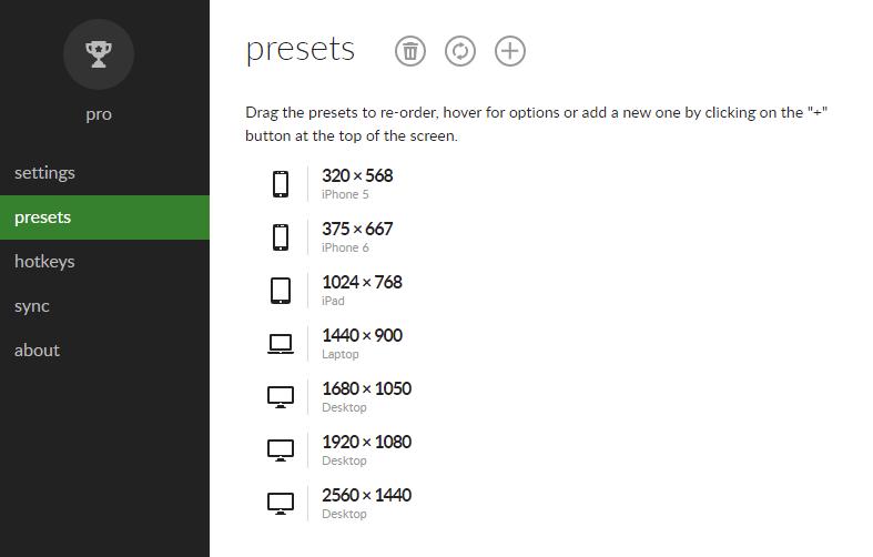 プリセットリストの追加・編集・削除も可能