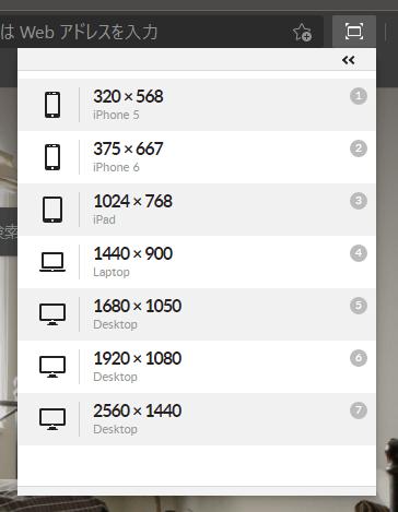 Window Resizerのオプション設定変更後