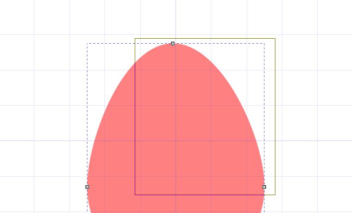 Inkscapeで範囲を指定して複数のパスを選択