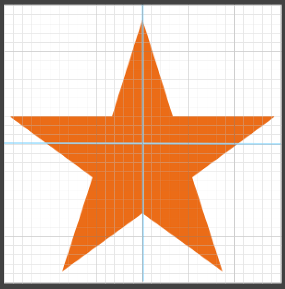 星型の頂点から右回り