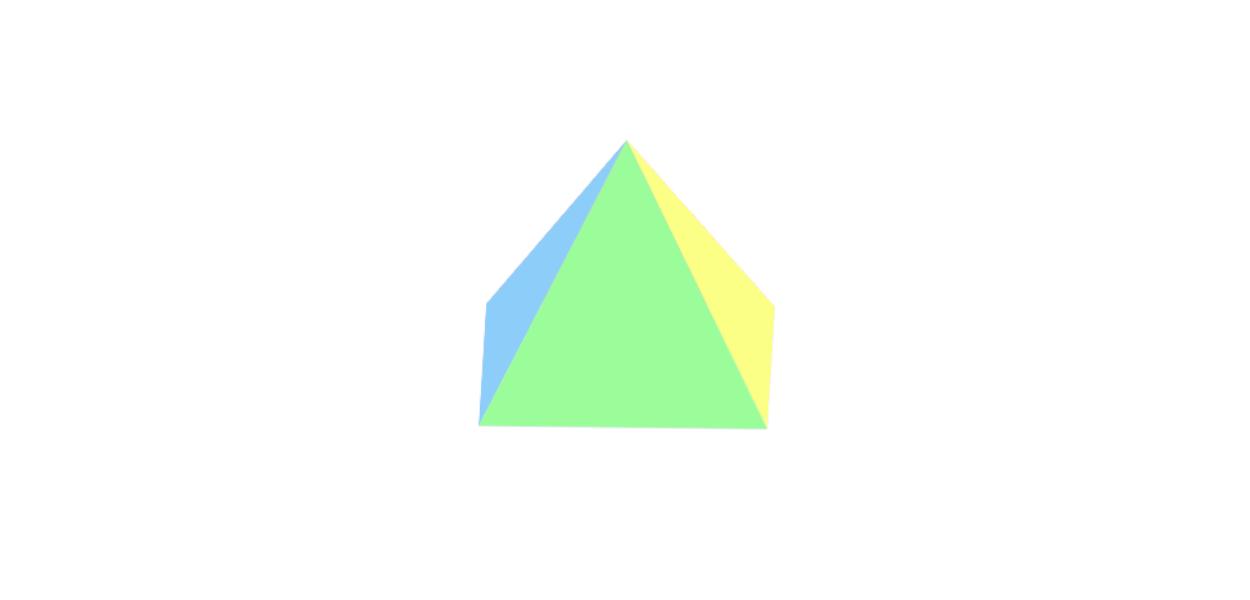 CSSで3Dなピラミッド型の作り方