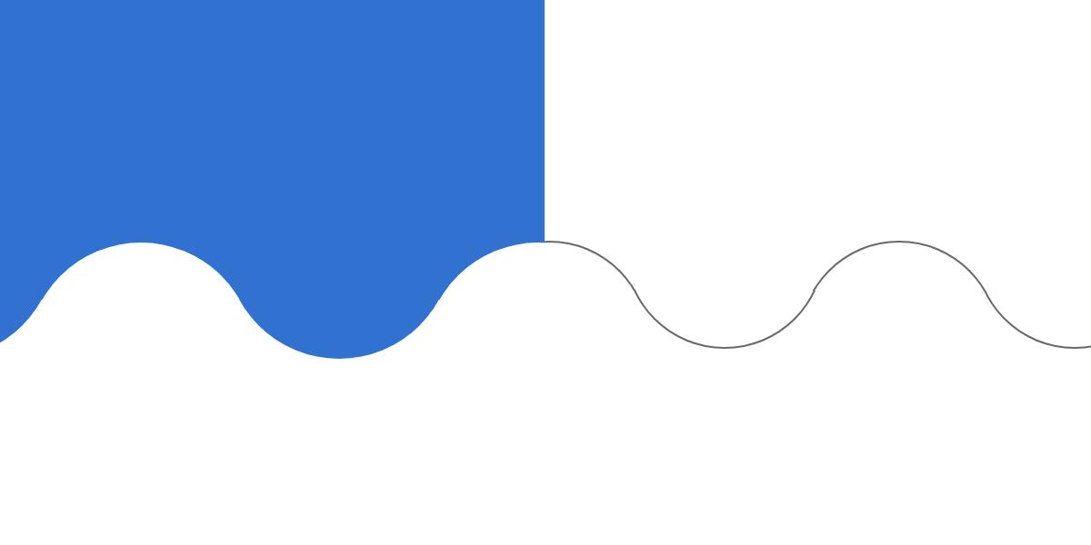 borderで波状の線、曲線を作成する方法